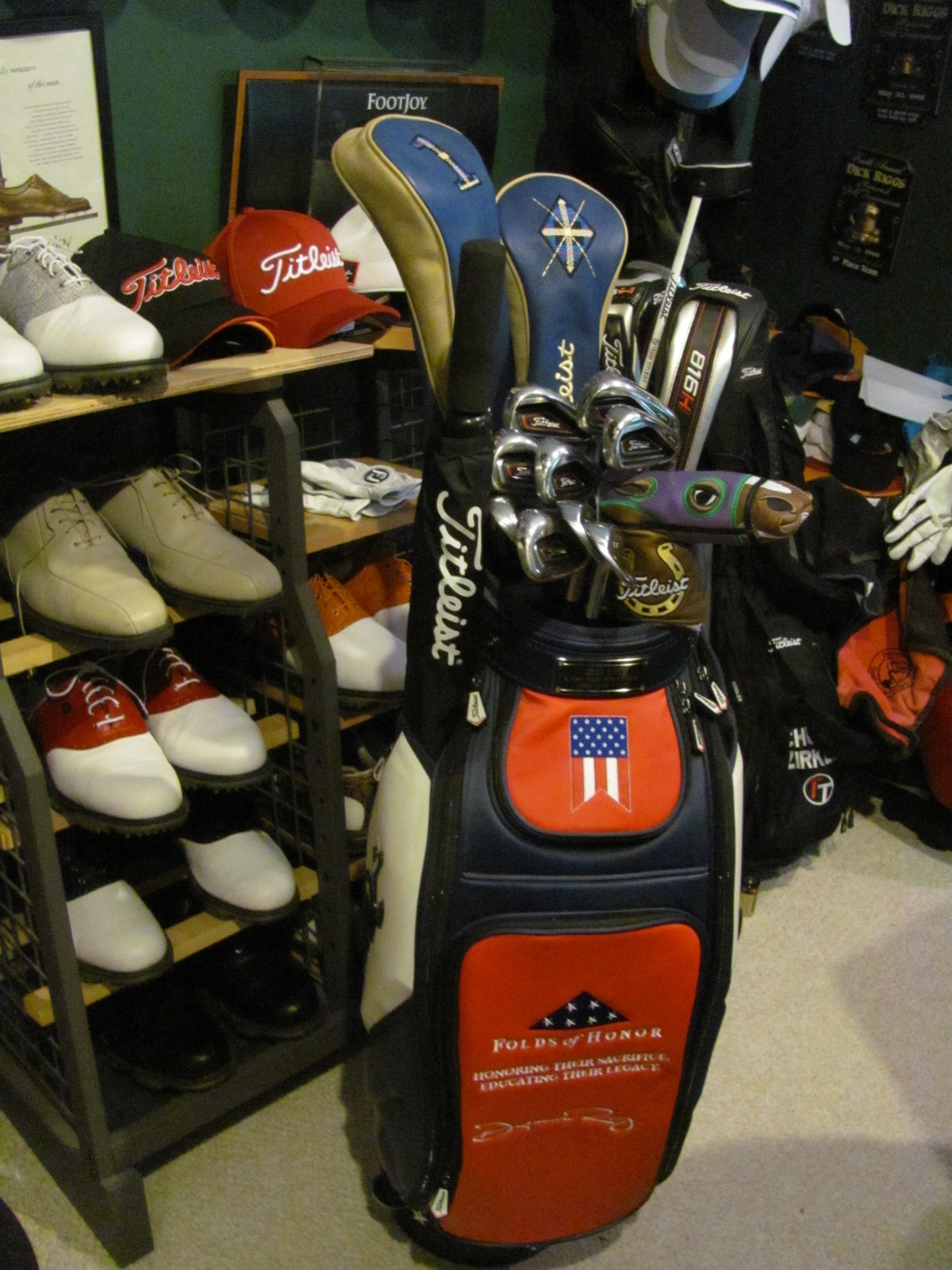 2017 Leist Limited Edition Folds Of Honor Tour Staff Bag General Canada Footjoy Community