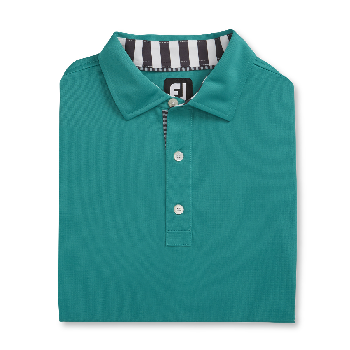 Solid Pique with Stripe Trim Self Collar-Previous Season Style