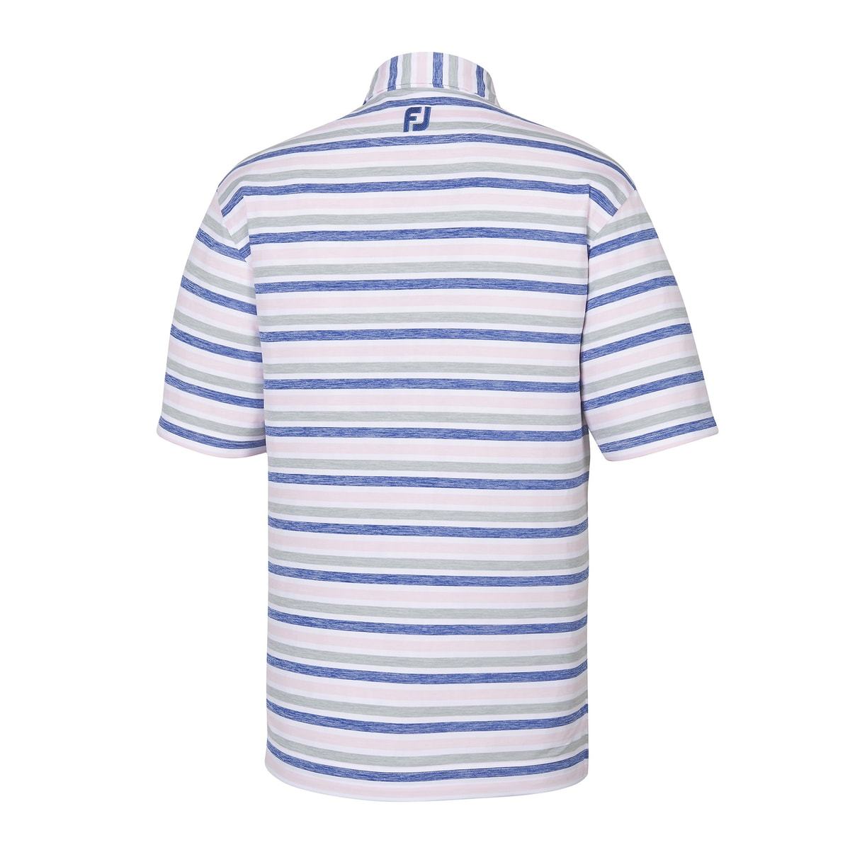 Lisle Melange Stripe Self Collar