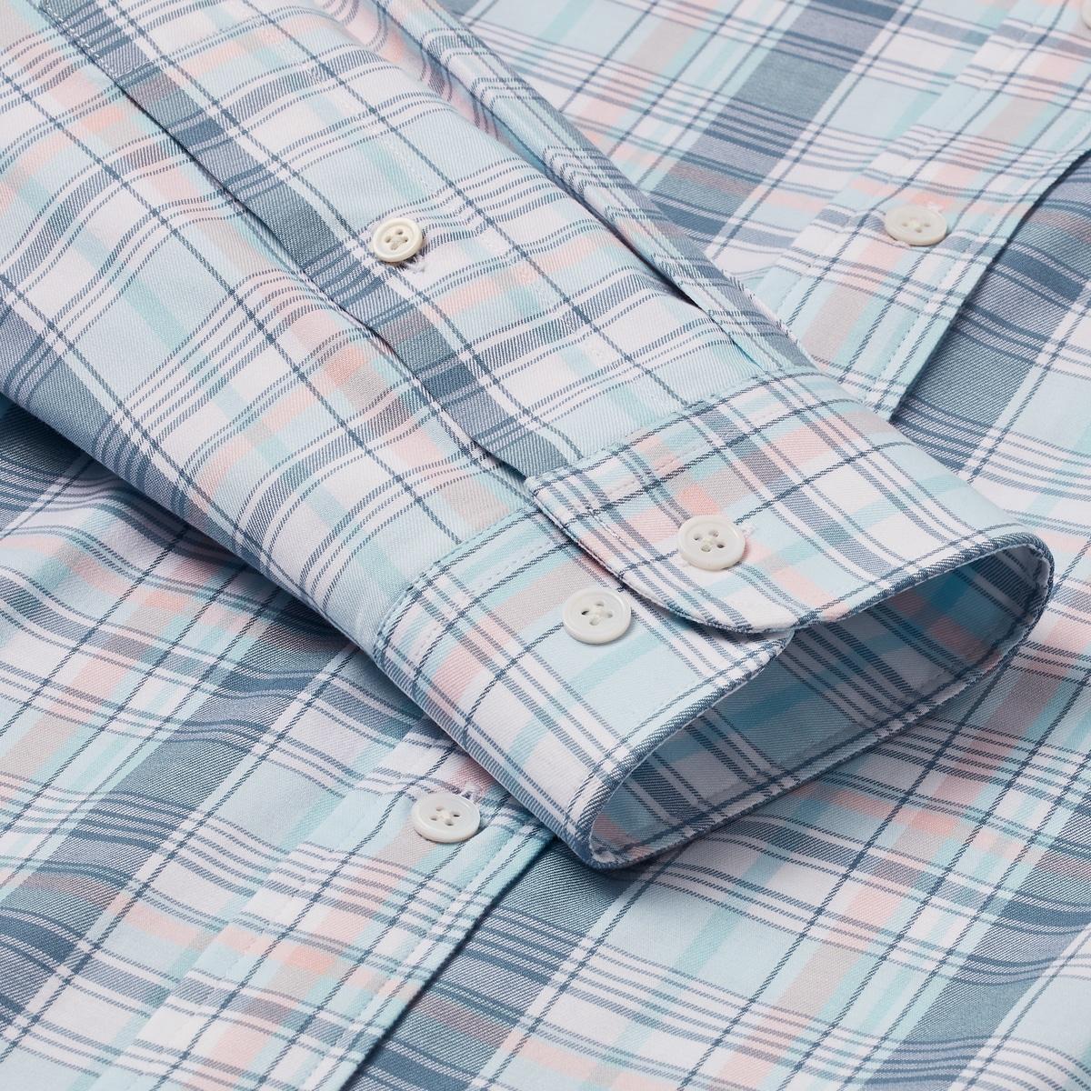 Stretch Cotton Woven Multi Plaid Shirt