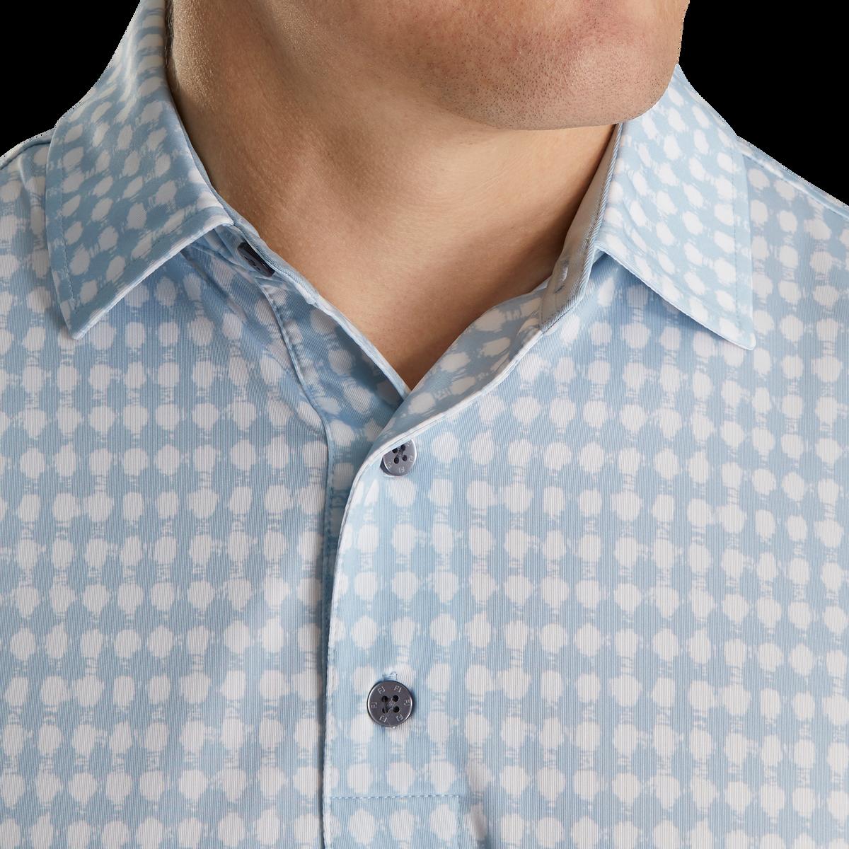 Lisle Gingham Fray Print Self Collar-Previous Season Style