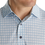 Lisle Gingham Fray Print Self Collar