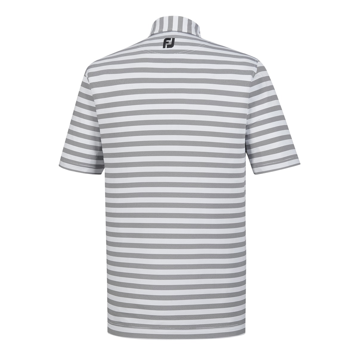 Athletic Fit End On End Multi Stripe Self Collar - FJ Tour Logo