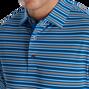 Multi-Stripe Stretch Pique Self Collar