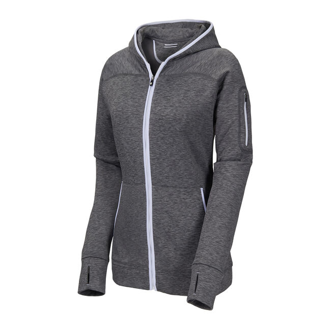 Full-Zip Fleece Hoodie Women-Previous Season Style