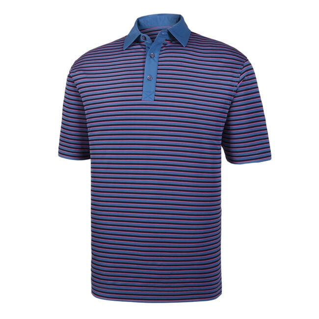 566738ec Super Stretch Baby Pique Multi Stripe Self Collar-Previous Season Style