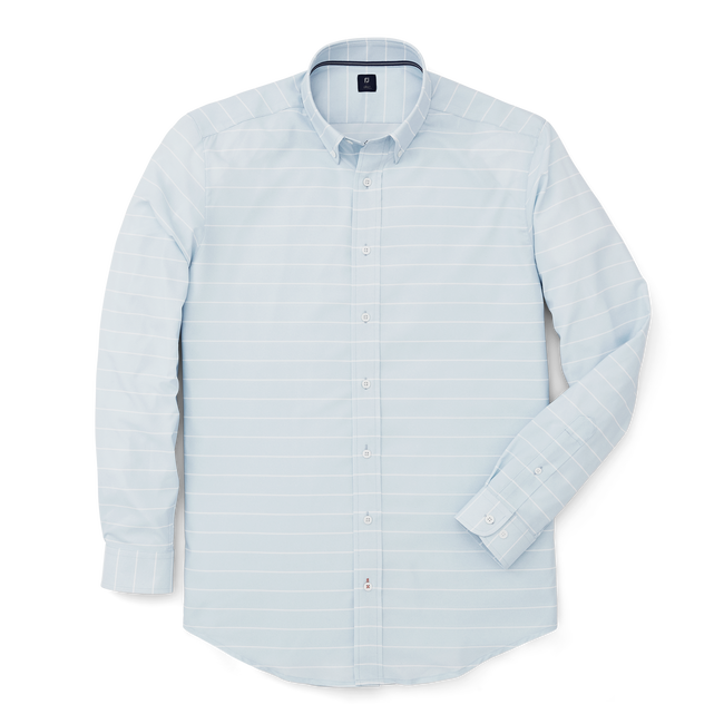 Stretch Twill Woven Stripe Shirt-Previous Season Style
