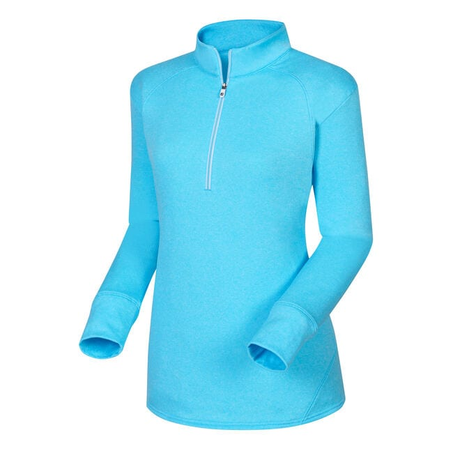 Half-Zip Textured Back Mid Layer Women