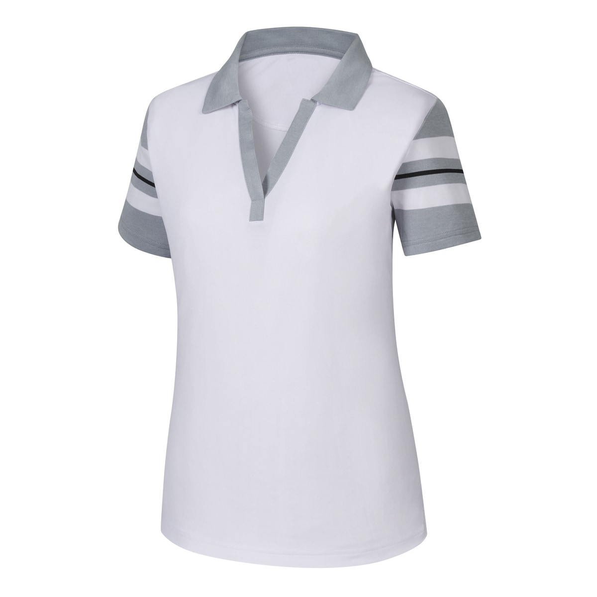 Baby Pique Sleeve Stripe Shirt Women