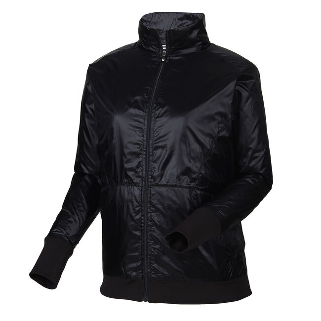 Full-Zip Knit Trim Jacket Women