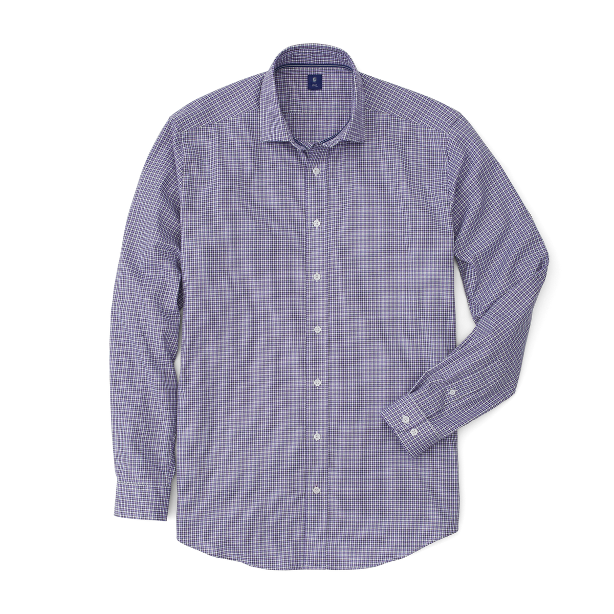 Stretch Twill Woven Check Shirt