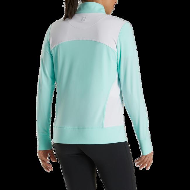 Full-Zip Panel Pocket Mid Layer Women
