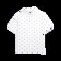Athletic Fit Lisle Golf Print Self Collar