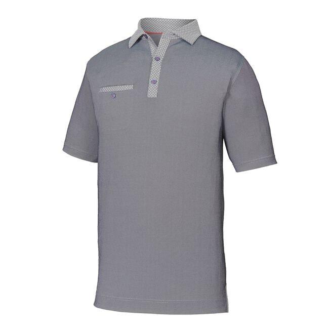 Athletic Fit Birdseye Jacquard Self Collar-Previous Season Style