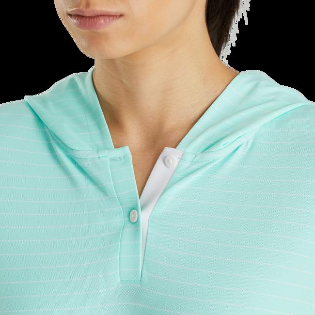 3/4 Sleeve Pinstripe Hoodie Women