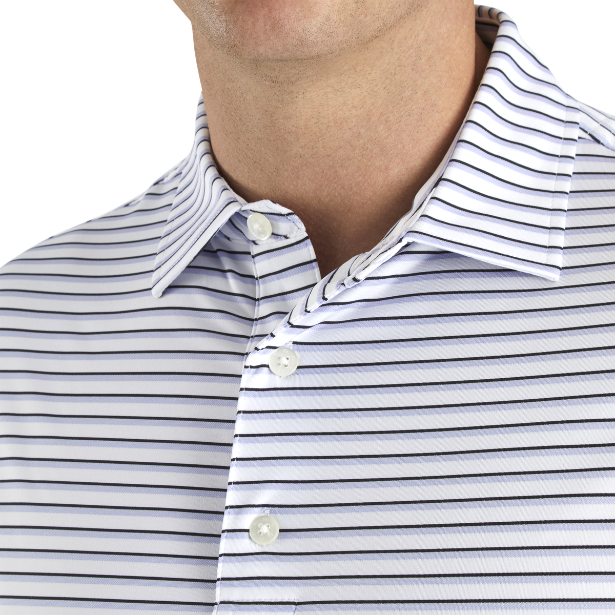 Jersey Jacquard Stripe Self Collar-Previous Season Style