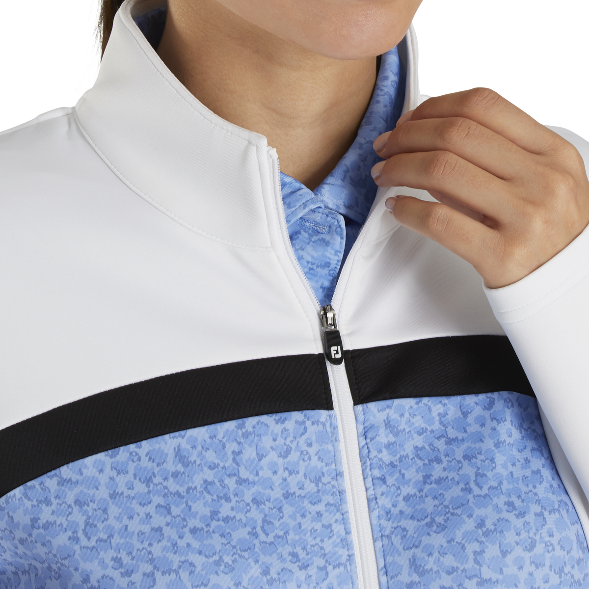 Full-Zip Double Jersey Blocked Mid-Layer Women