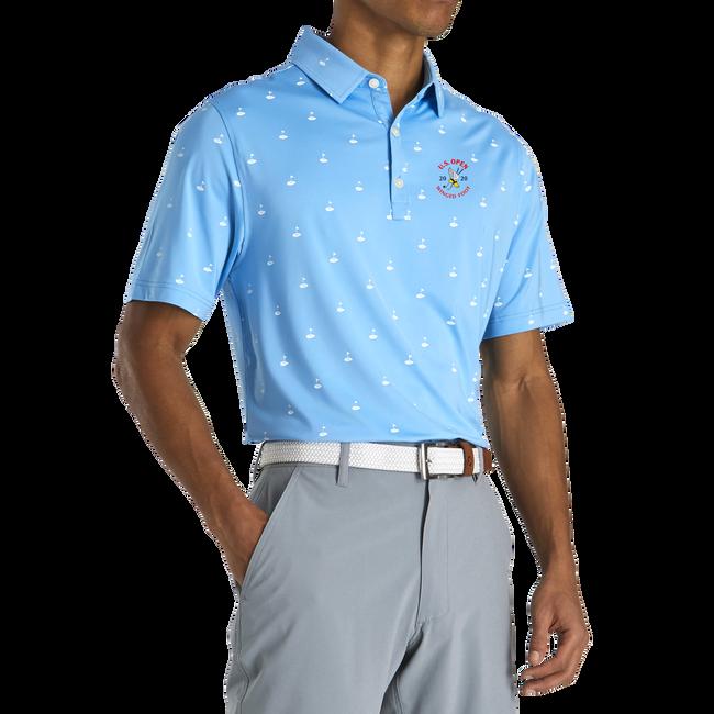 2020 U.S. Open Athletic Fit Lisle Golf Print Self Collar