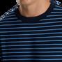 Jersey Fleece Striped Crewneck