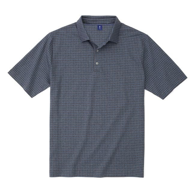 Jacquard Knit Windowpane Shirt
