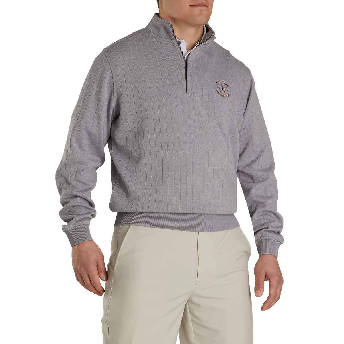 2020 U.S. Open Drop Needle Half-Zip Gathered Waist