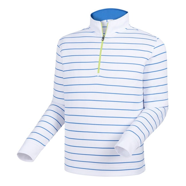 Double Layer Stripe Half-Zip Mid Layer