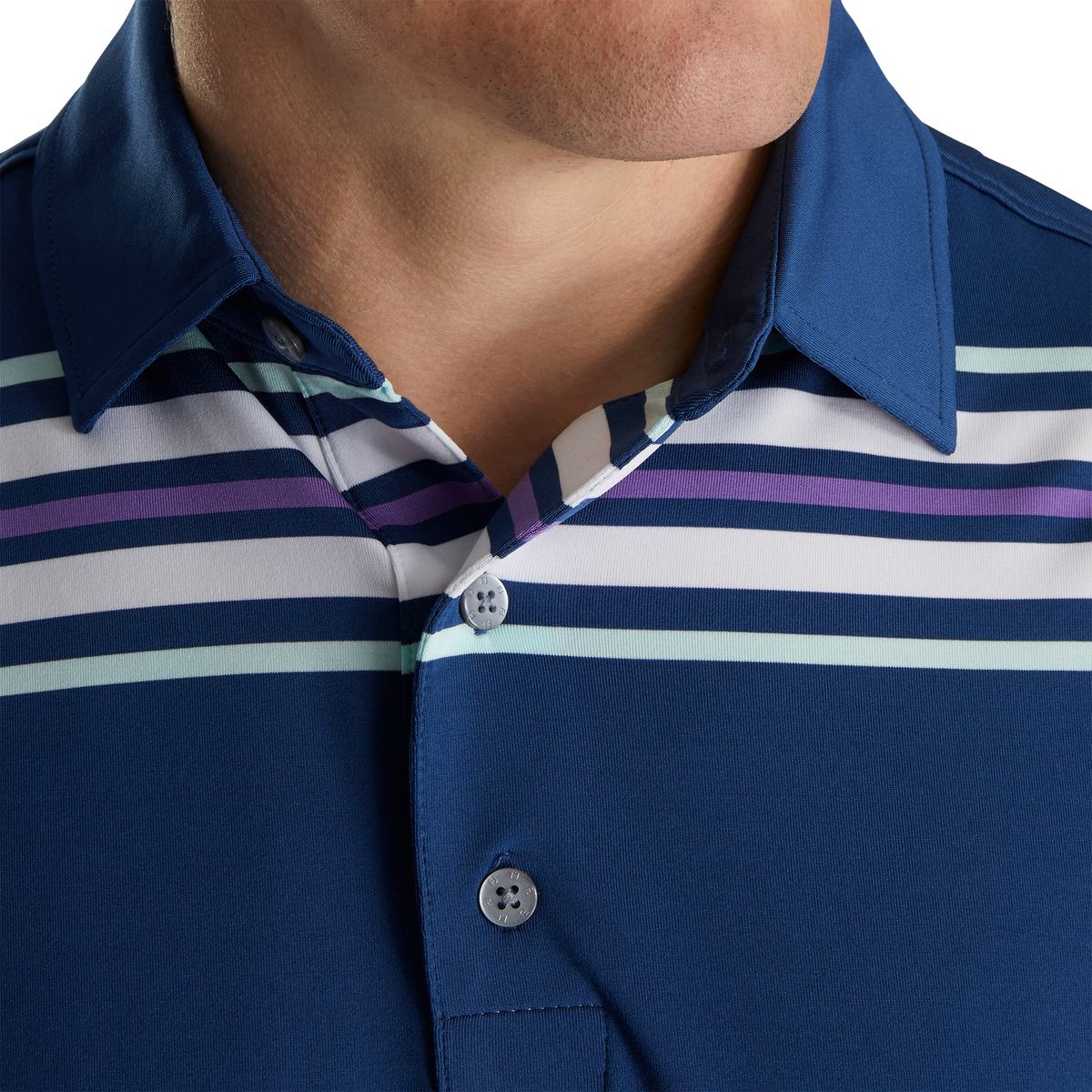 Lisle Chest Stripe Self Collar
