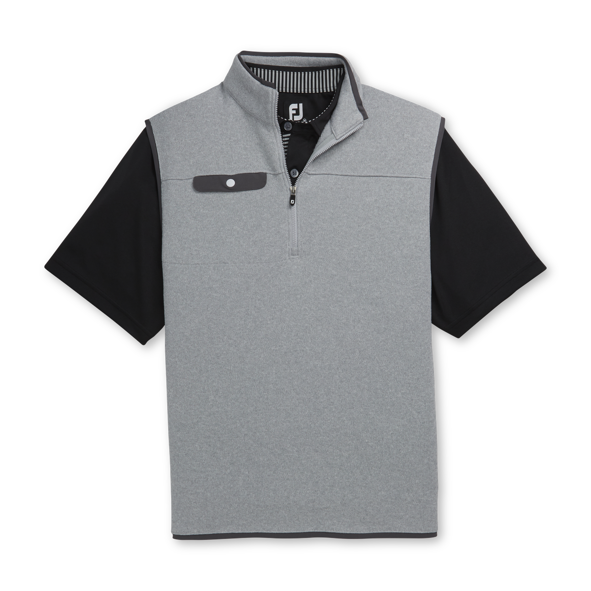 Sweater Fleece Quarter-Zip Vest-Previous Season Style