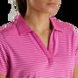 Lisle Tonal Stripe Open Neckline Women