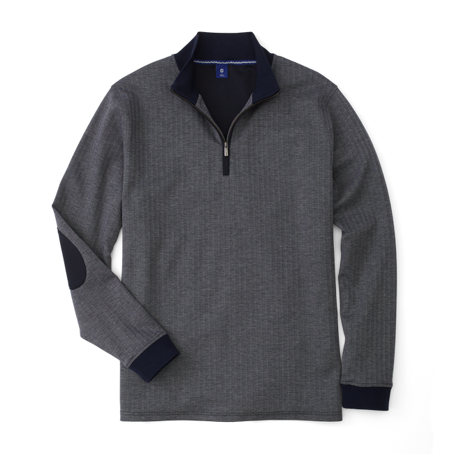 Herringbone Jacquard Quarter-Zip-Previous Season Style