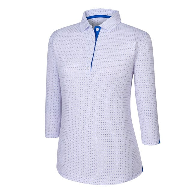 3/4 Sleeve Dot Pattern Shirt Women