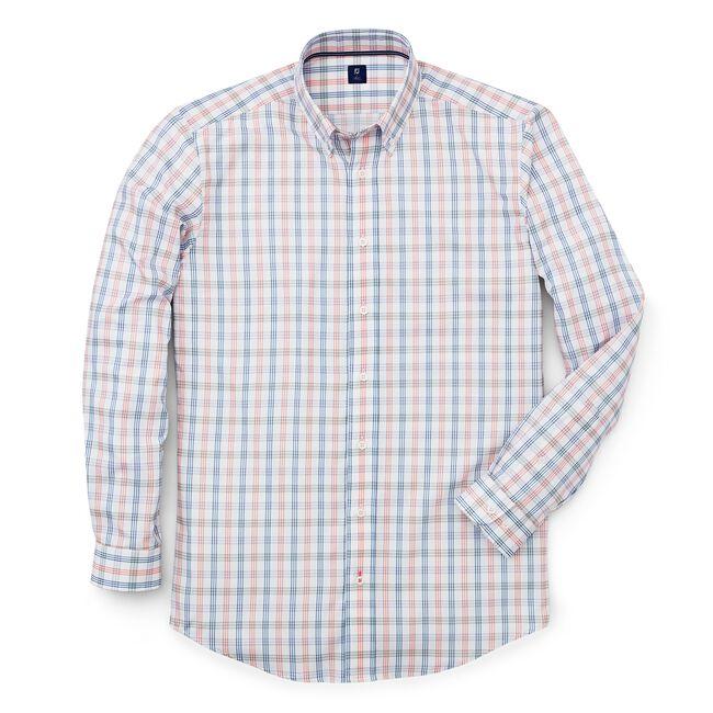 Stretch Twill Woven Tattersall Shirt-Previous Season Style