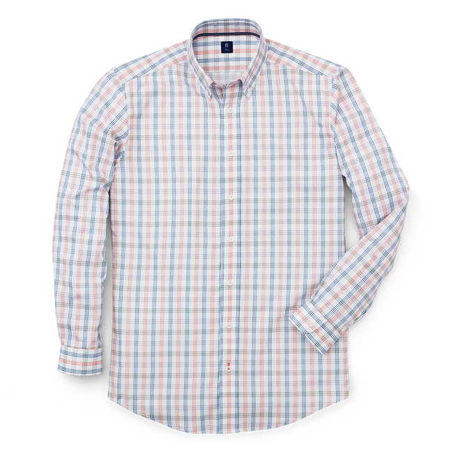 Stretch Twill Woven Tattersall Shirt-Previous Season Style
