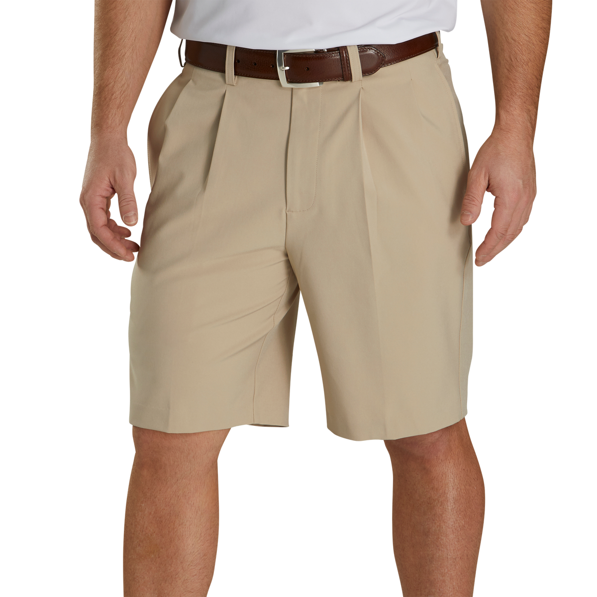 "Pleated Shorts 9.5"" Inseam"