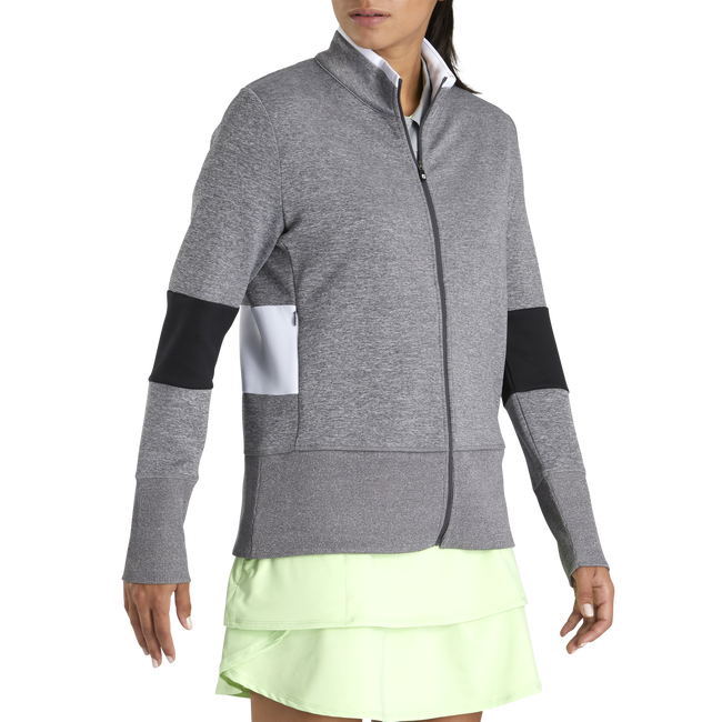 Double Jersey Blocked Full-Zip Women-Previous Season Style
