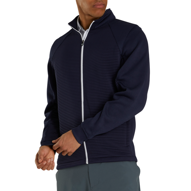 Ribbed Sweater Fleece Jacket-Previous Season Style