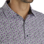 Daisy Print Lisle Self Collar