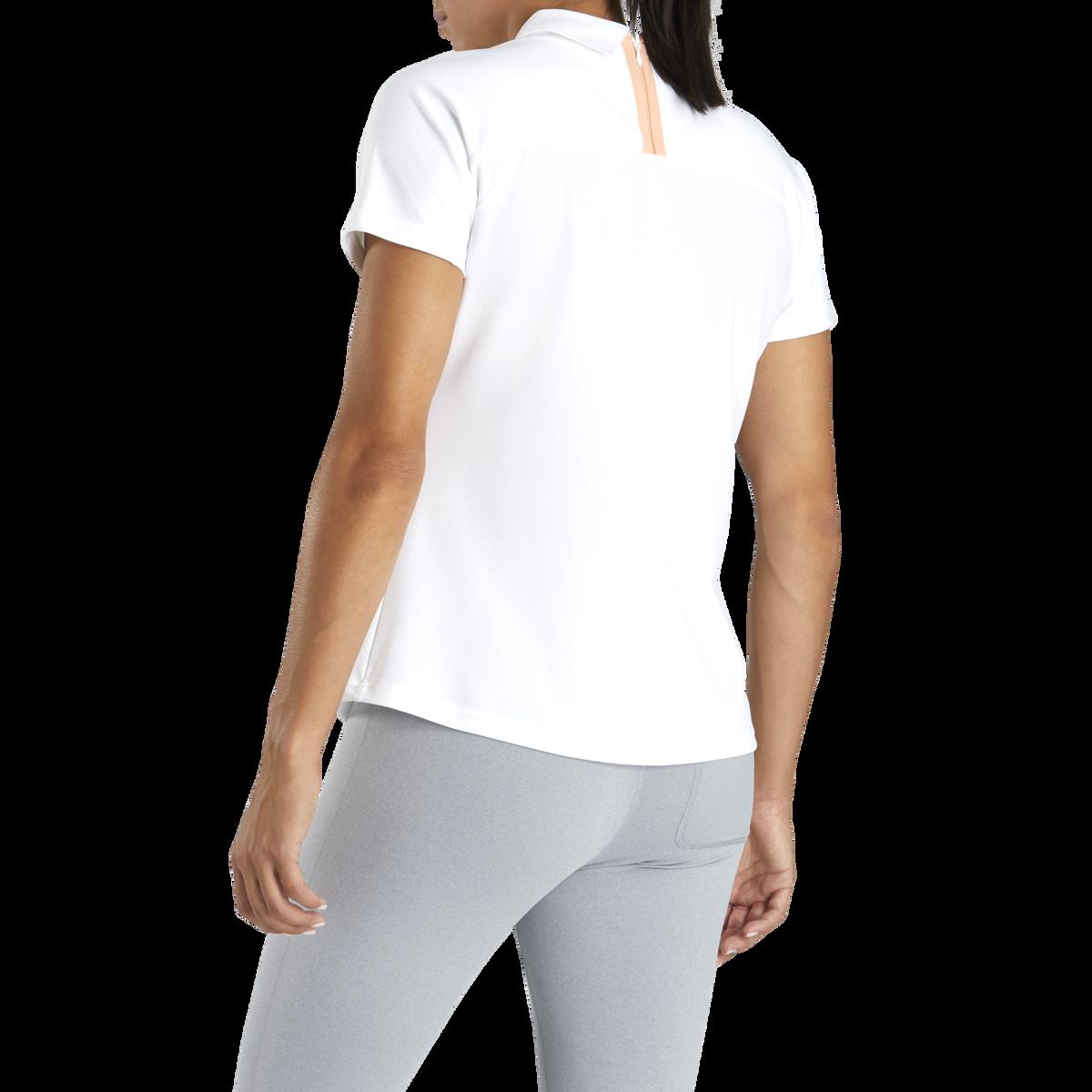 Pique Back-Zip Shirt Women