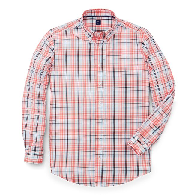 Stretch Twill Woven Plaid Shirt