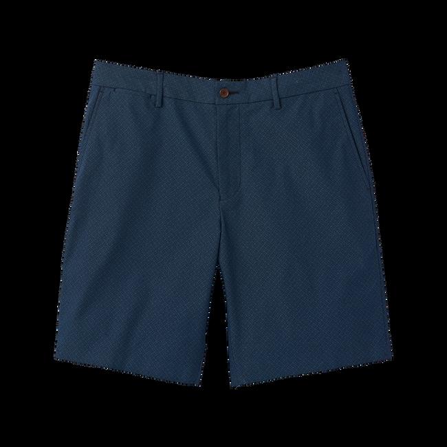 Woven Chambray Print Shorts