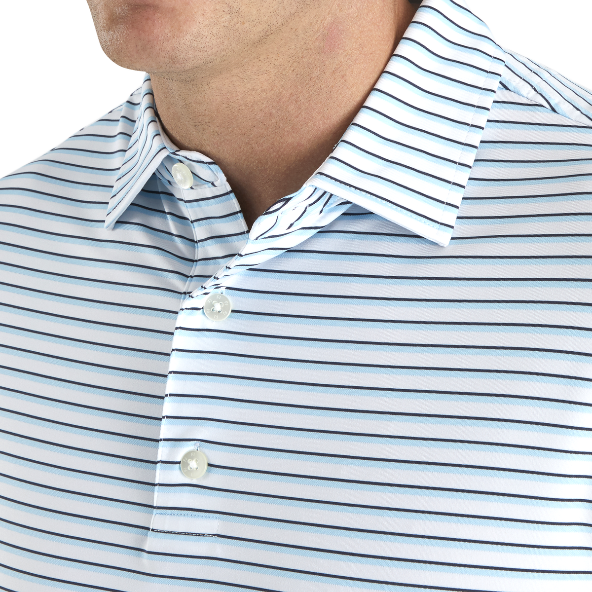 Jersey Jacquard Stripe Self Collar