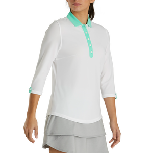 Baby Pique 3/4 Sleeve+Contrast Trim Women-Previous Season Style