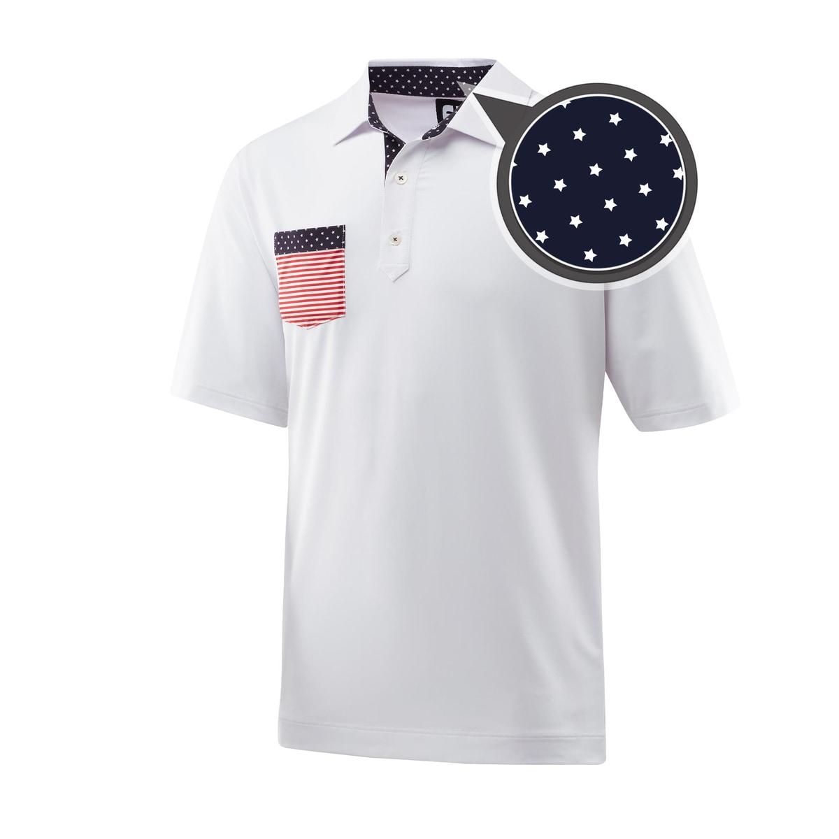 Solid Lisle Flag Chest Pocket Self Collar