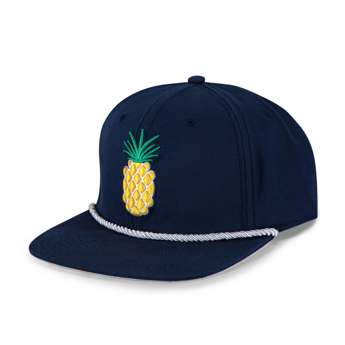 Flat Brim Pineapple Rope Cap