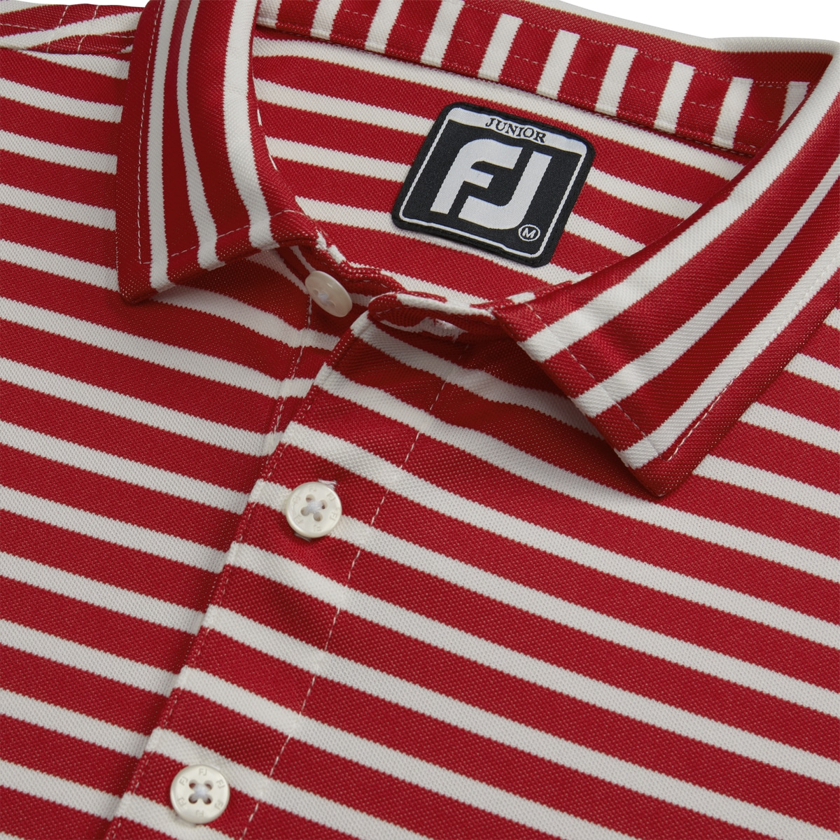 Striped Pique Self Collar Junior