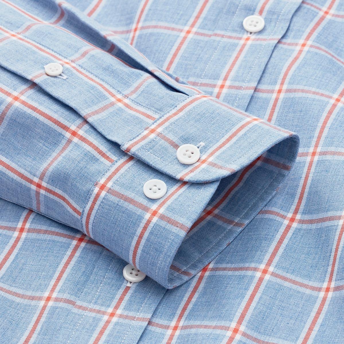 Stretch Twill Woven Plaid Shirt-Previous Season Style