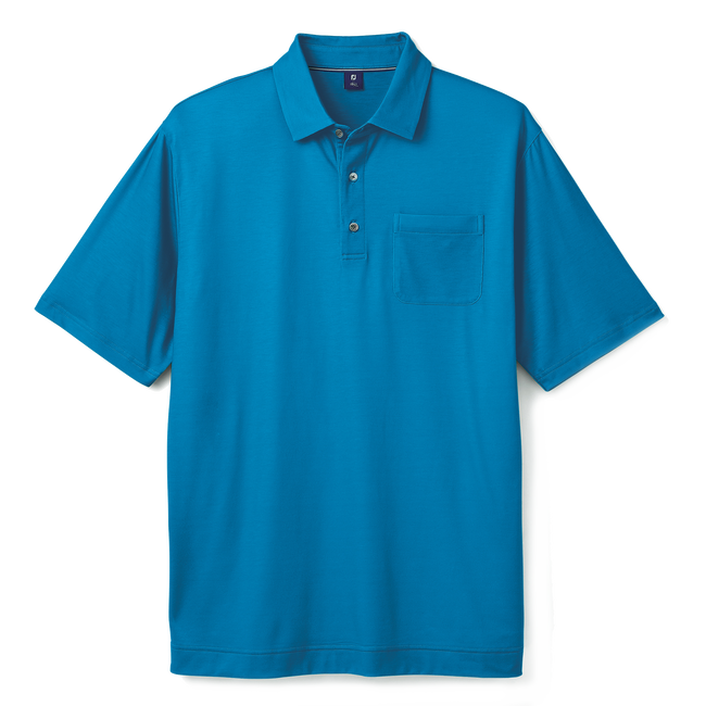 Pima Lisle Chest Pocket with Set on Placket-Previous Season Style