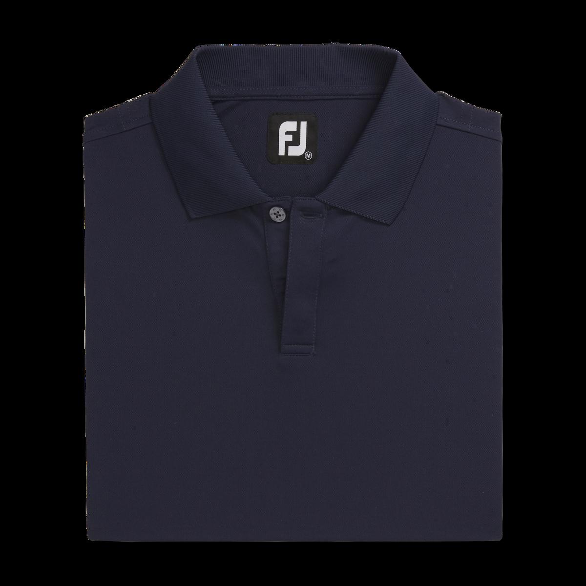 Pique Block Sleeve Knit Collar
