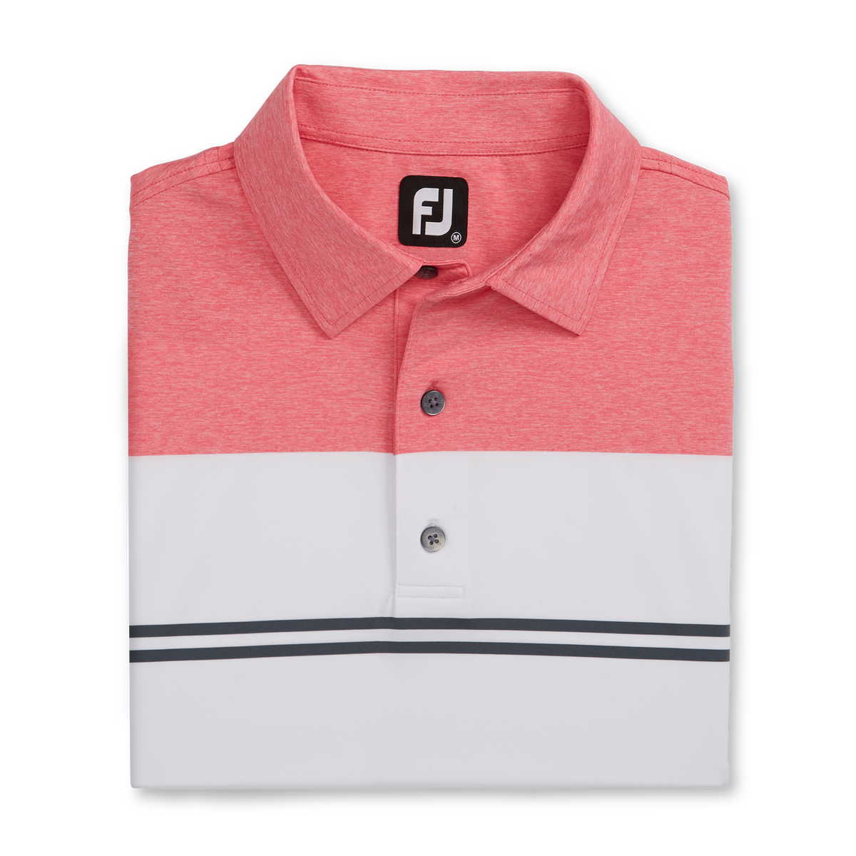 Heather Color Block Lisle Self Collar-Previous Season Style