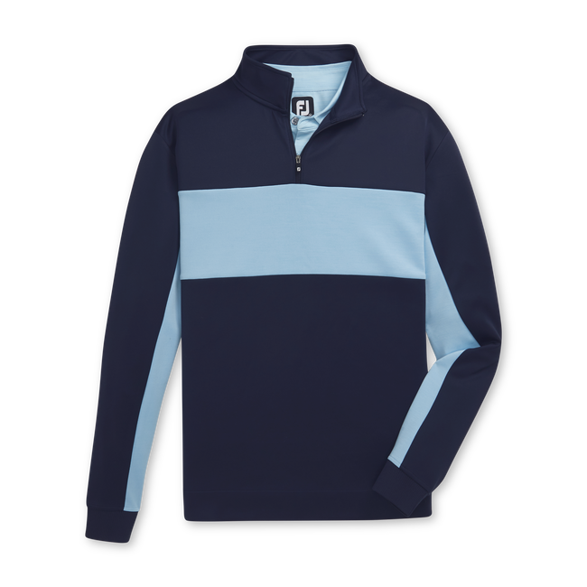 Double Jersey Pieced Quarter-Zip